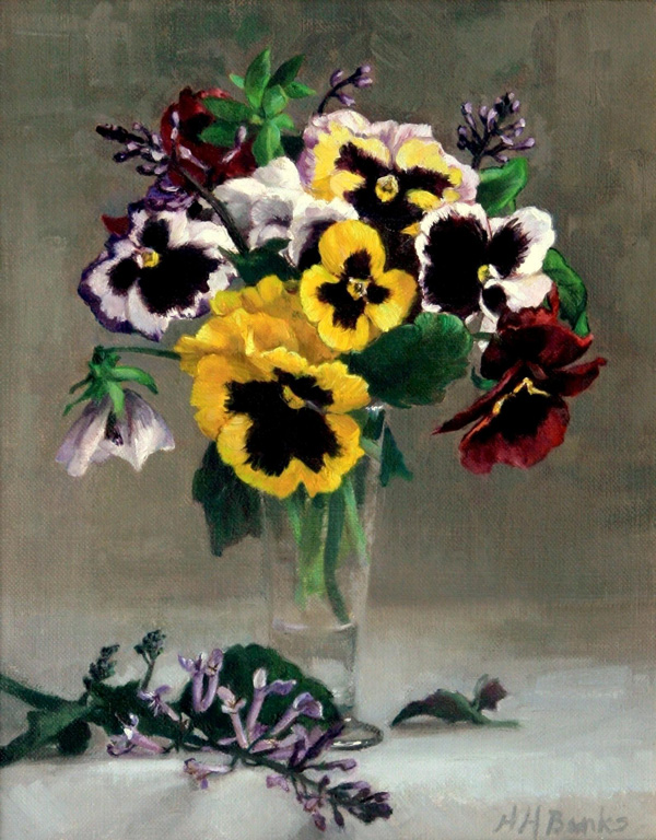© Holly Banks, Pansies and Lavender